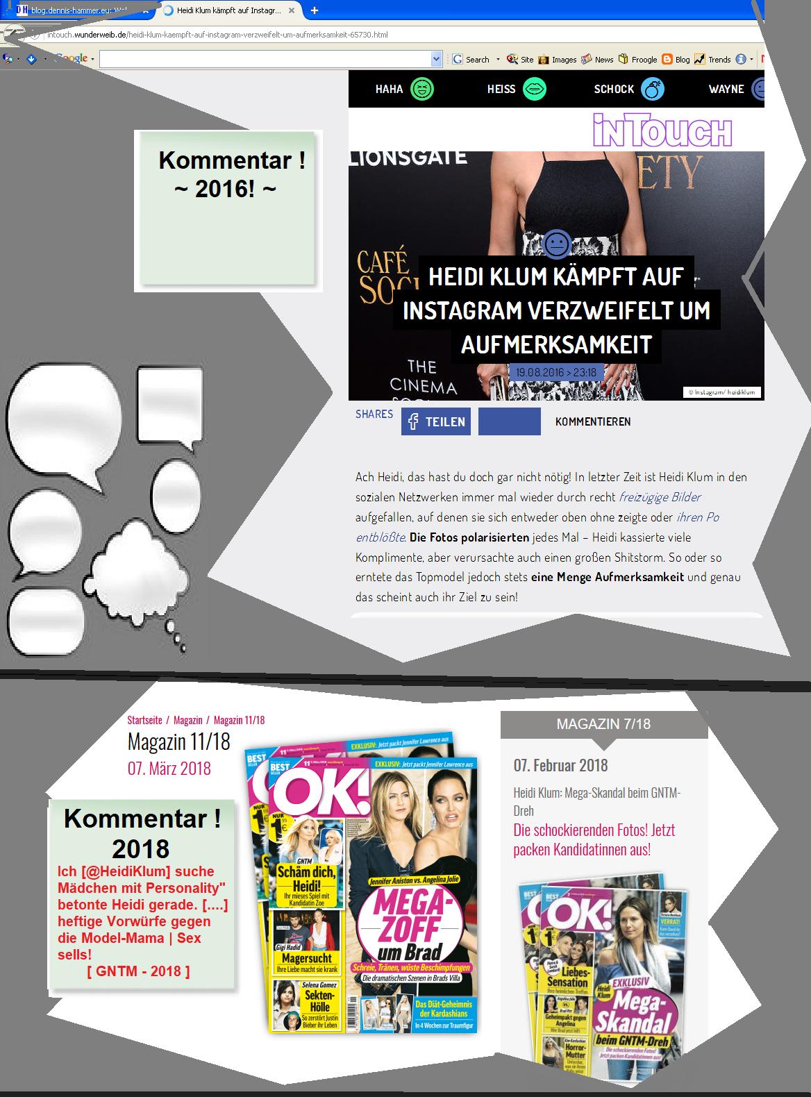 Heidi Klum kämpft verzweifelt in Instagram um Aufmerksamkeit